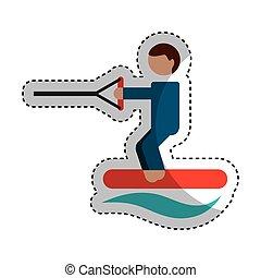 water ski sport icon vector illustration design