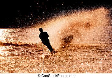 Water Skier Silhouette