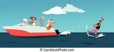 Water skiing seniors