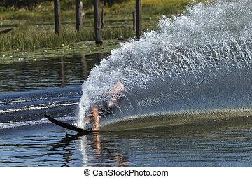 Water-Skiing Wake Spray