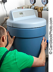 Water softener in boiler room - Instalation of a water...