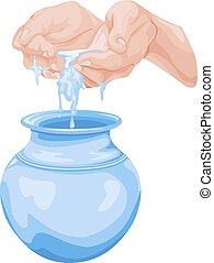 water, sparen, concept., vector