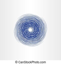 water spiral vortex abstract vector background design