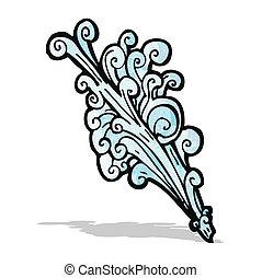 water splash cartoon element