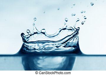 water splash close-up aqua backgrounds