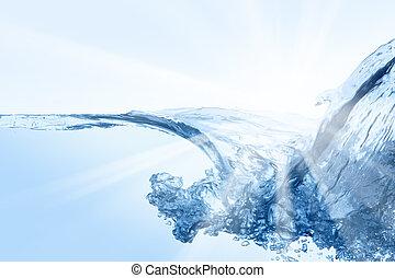 Water splash. Close up of splash of water.