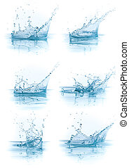water splash collection