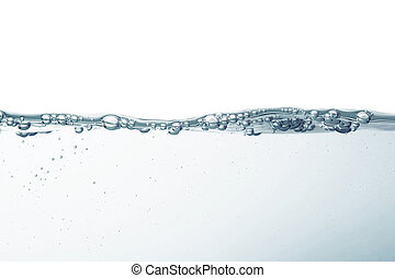 water splash in white background