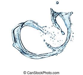 Water splash - Isolated shot of water splash on white...