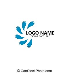 Water splash logo vector icon illustration