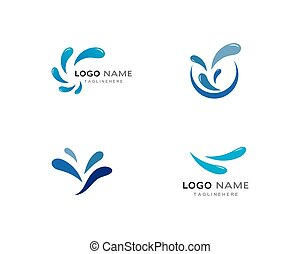 Water Splash logo vector
