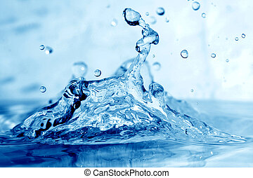 water splash macro close up