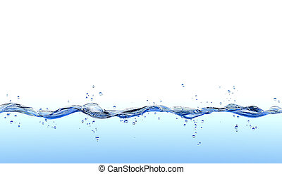 Water splash isolated on white background.