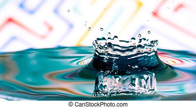 Water splash, water splash isolated on bright background