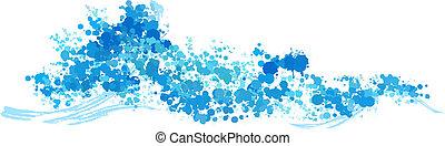 water splash wave vector background