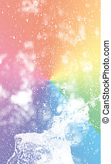 Water splash with colorful style , digital effect abstract for background