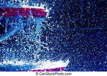 water splashes abstract background