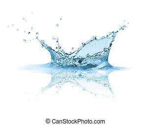 Water splashes , isolated on white background
