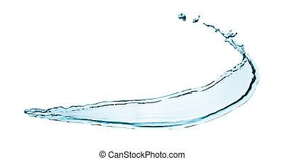 water splashing  close up isolated on white background