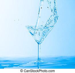 Water Splashing in a Wineglass
