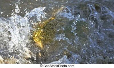 water splashing wave