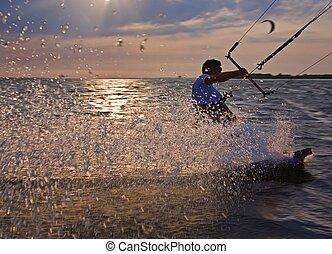 Water sport - Austria active person enjoying water sport in ...