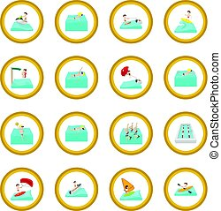 Water sport cartoon icon circle