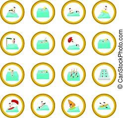 Water sport cartoon icon circle