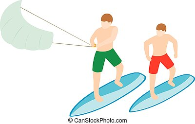 Water sport icon, isometric style
