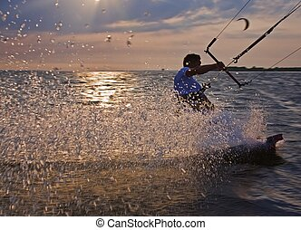 Water sport - Austria active person enjoying water sport in...
