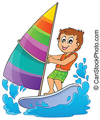 Water sport theme image 1 - eps10 vector illustration.