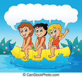 Water sport theme image 7 - eps10 vector illustration.