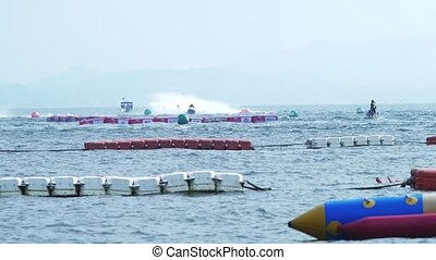 Water sports. Aquatics motorsport competitions in Thailand,...