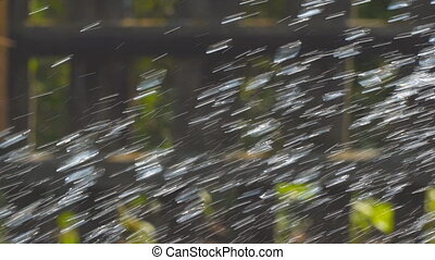 Abstract view of drops and splashing water