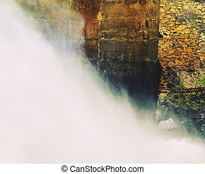 Water Spraying From Dam Wall