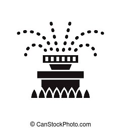 Water Sprinkler Icon - Garden sprinkler icon in outline...