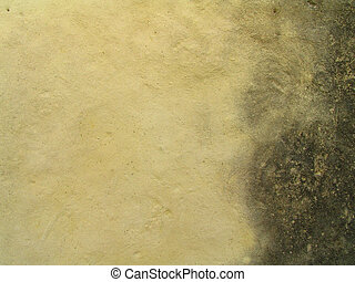 Closeup of Water Stained Limestone Wall for Background or Blending