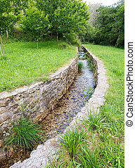 Water stone canal outdoors