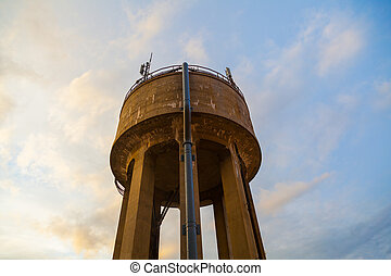Water Supply Tank in a Sunny Day