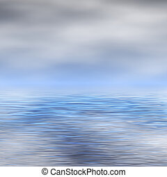 Water surface and sky