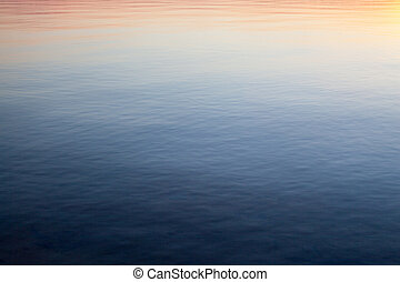 Water surface at sunset.