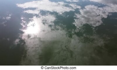 water surface from above, aerial 4K video. High quality 4k footage