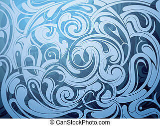 Water surface - Liquid ornament with water wave abstraction