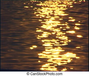 Water surface, reflections