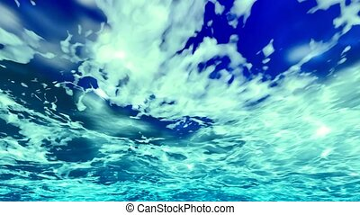 Water surface - rippled and undulated