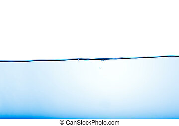 Water Surface - An abstract water surface with a few bubbles