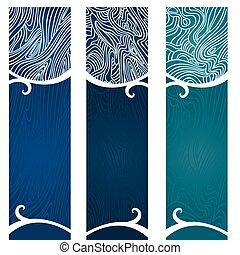 Water Swirls Banner - Vector art in Illustrator 8. Banners ...
