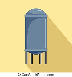 Water tank icon, flat style