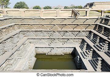Water tank of Royal Enclosure temple at Hampi on India