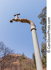 Water Tap Dry Landscape